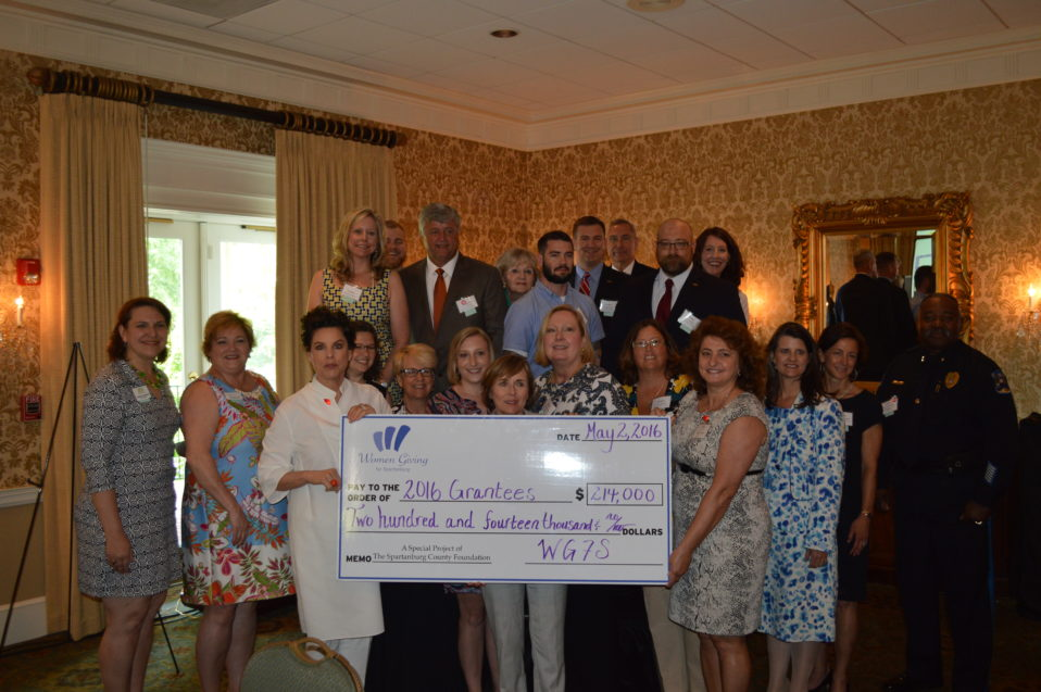 WOMEN GIVING FOR SPARTANBURG ANNOUNCES 2016 GRANTEES
