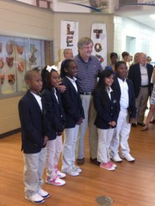 Arthur Cleveland and Student Ambassadors with Cleveland Academy of Leadership