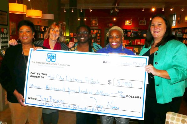 The Spartanburg County Foundation Awards Hub City Writers Project $3,400