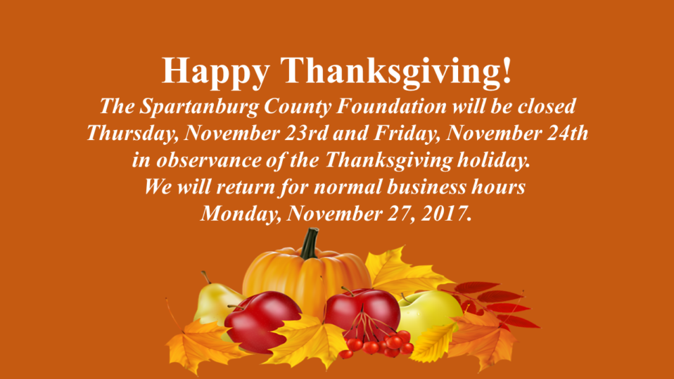 The Spartanburg County Foundation Thanksgiving