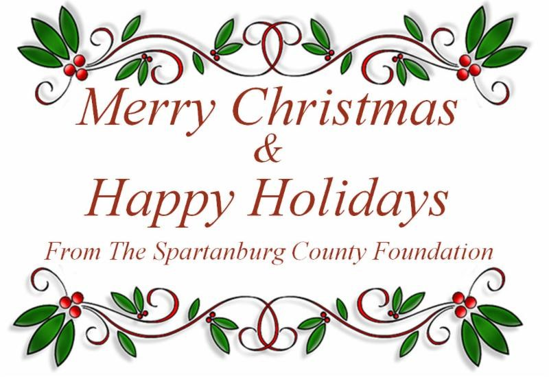 The Spartanburg County Foundation Merry Christmas & Happy Holidays