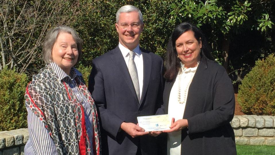 The Spartanburg County Foundation Receives Check From Children's Cancer Partners of the Carolinas