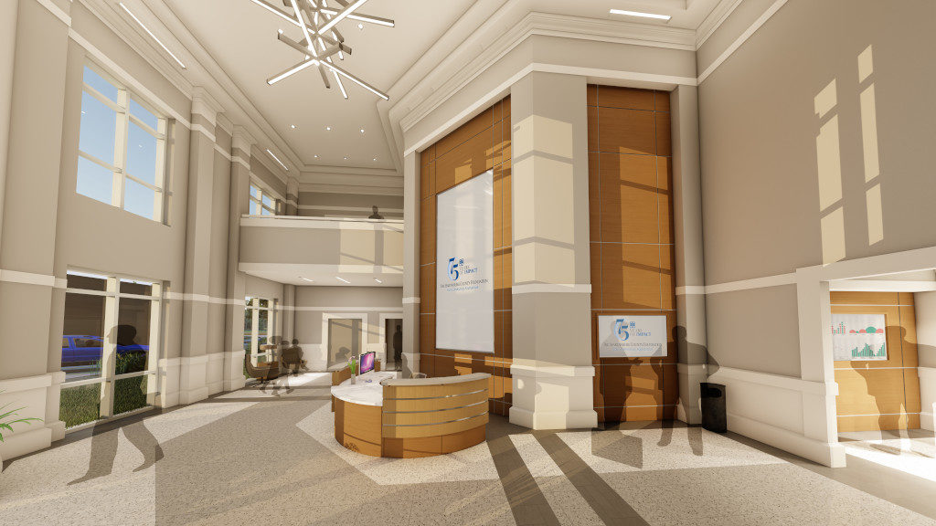 Center for Philanthropy, Lobby Rendering 1