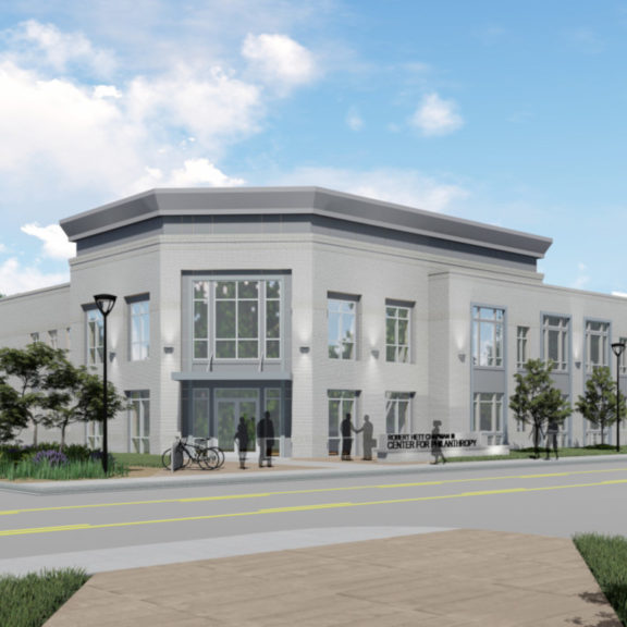 Center for Philanthropy, Exterior Rendering 1, cropped