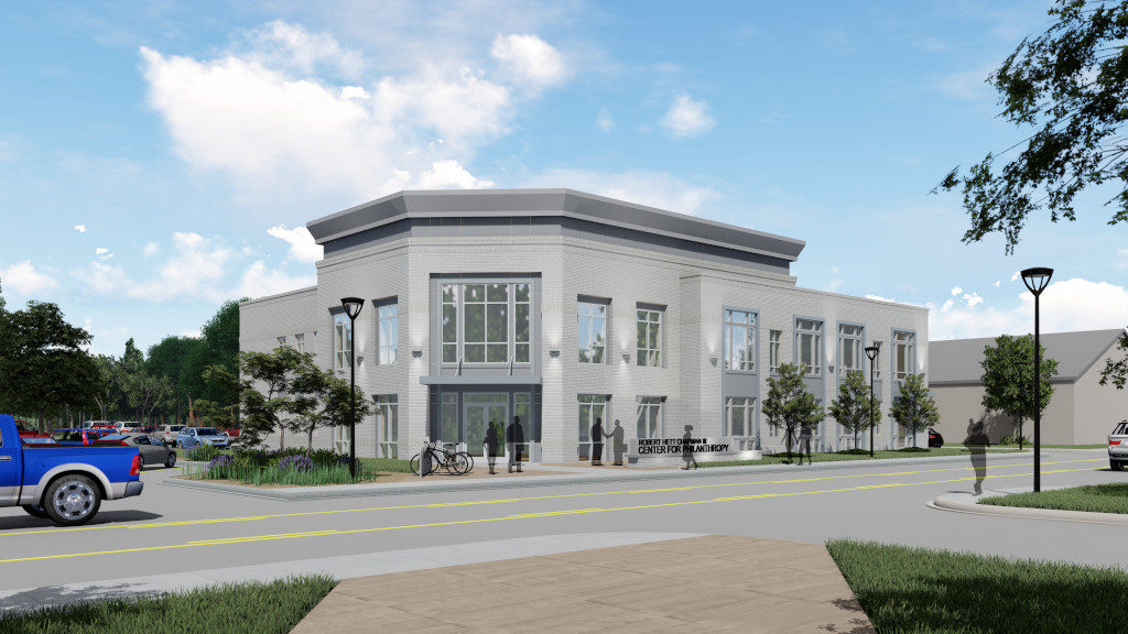 Center for Philanthropy, Exterior Rendering 1