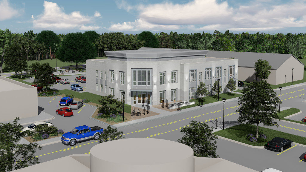 Center for Philanthropy, Exterior Rendering 3