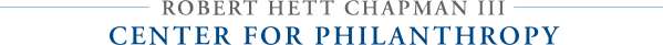 Robert Hett Chapman III Center for Philanthropy logo