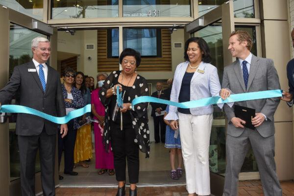 Ribbon cutting at The Robert Hett Chapman III Center for Philanthropy